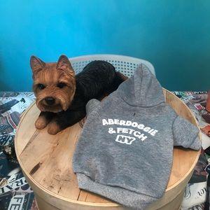 NWOT doggie hoodie aberdoggie & fetch hoodie xs